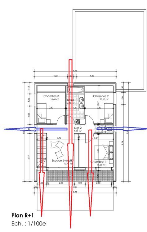 maison 3 chambres plain pied dessiner des plans fonctionnels conseils thermiques