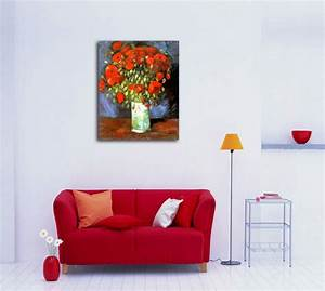 Van gogh poppies reviews online shopping van gogh for What kind of paint to use on kitchen cabinets for red poppies canvas wall art