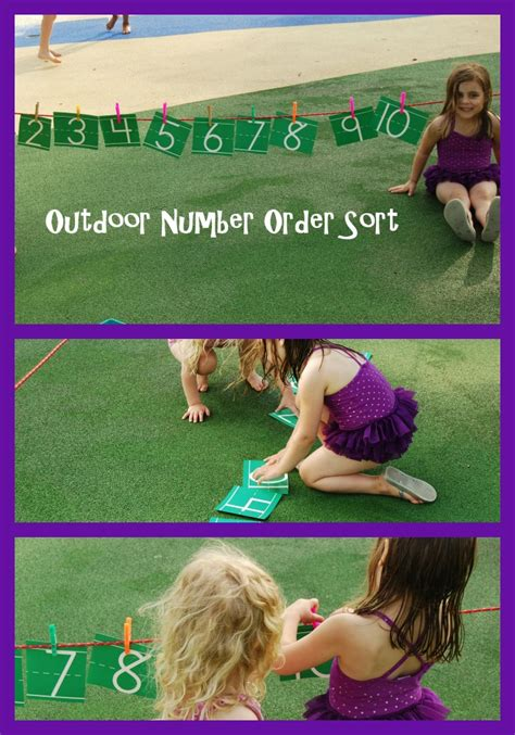 outdoor number order sorting for preschool the 767 | Outdoor Number Order Sorting for Preschool