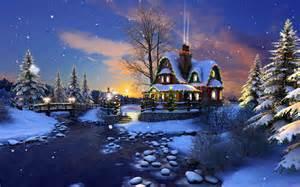 White Christmas 3D Screensaver