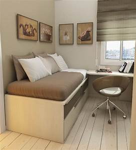 Bed, With, Desk, Attached