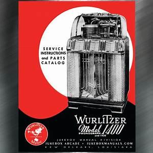 Wurlitzer Models 1400 And 1450 Service Manual  U0026 Parts