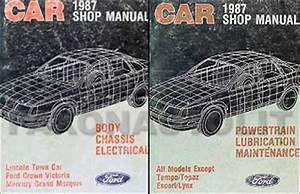 1987 Lincoln Mark Vii Foldout Wiring Diagrams Original