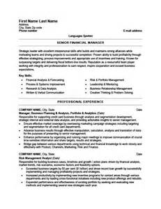 finance manager resume template senior financial manager resume template premium resume sles exle