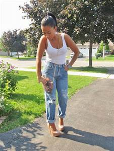 Jeans boyfriend jeans high waisted jeans ripped jeans ripped light jeans summer outfits ...