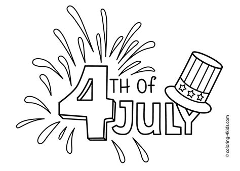 july  coloring pages usa independence day coloring pages