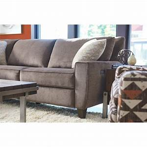 La z boy edie four piece power reclining sectional sofa for Sectional sofa with 4 recliners