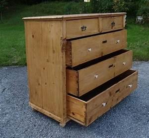 Shabby Chic Möbel Gebraucht : antike kommode gro naturholz shabby chic m bel k chenschrank ~ Markanthonyermac.com Haus und Dekorationen