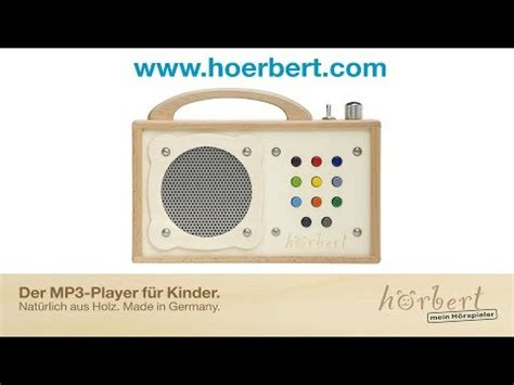 h 246 rbert kinder mp3 player winzki aus holz