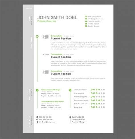 modern simple cv resume template psd freebie psdfinder co