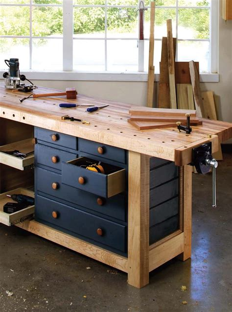 shaker workbench workbench  drawers popular