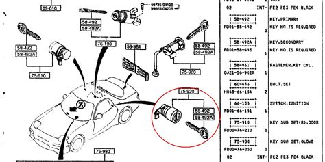 Car Latch Diagram by Fd Door Locks Rx7club Mazda Rx7 Forum