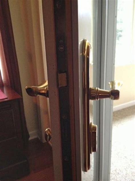 lazy pella proline  swing hinged patio door dead bolt doityourselfcom community forums