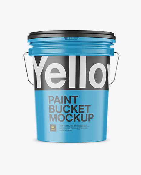 Present your design on this mockup. Matte Plastic Paint Bucket Mockup - Front View in Bucket ...