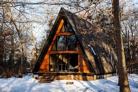 a frame cabins take a retreat to this scandinavian modern a frame cabin