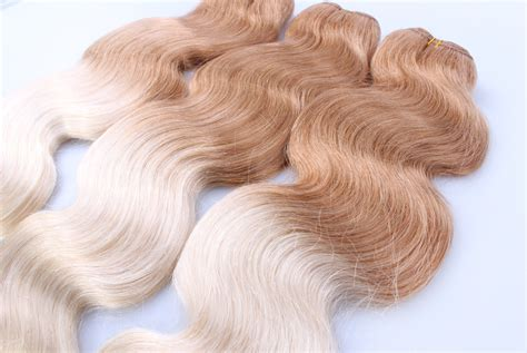 Two Tone Colors T27/613 Ombre Virgin Hair Weaving