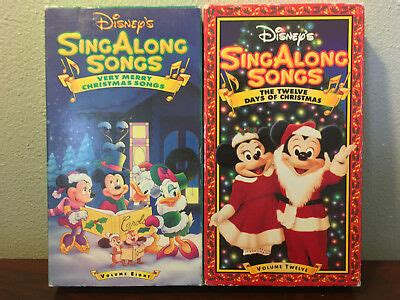 lot of 12 children s disney sing along songs vhs s 19 95 picclick