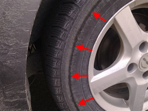 sidewall damage     replace  tire pics