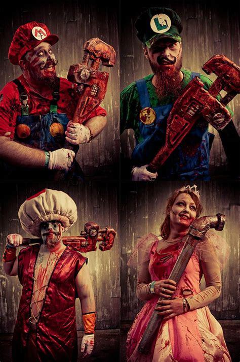 cosplay mario bros zombie apocalypse super costume awesome brothers nintendo costumes halloween creepy peach princess dress luigi zombies daisy scary