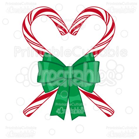 Use this for your holiday and christmas decoration. Candy Cane Heart SVG Cutting File & Clipart