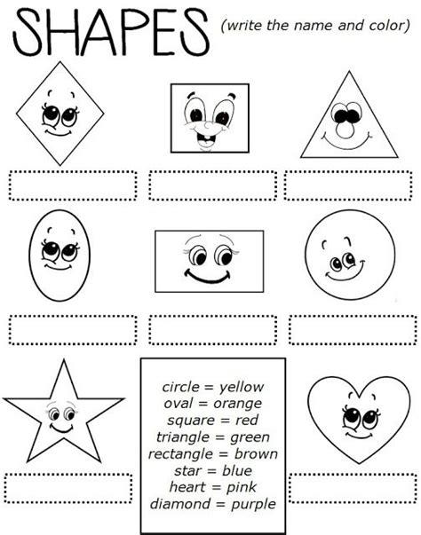 Enjoy Teaching English Shapes (worksheet)  My Blog  Enjoy Teaching English Pinterest