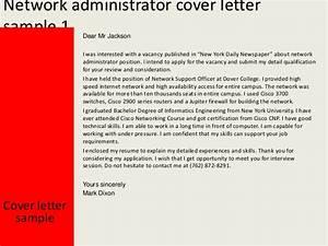 network administrator cover letter With cover letter for network administrator job