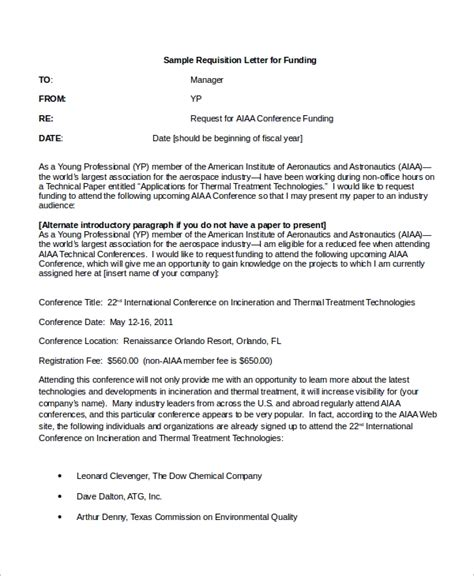 sample requisition letter  examples  word