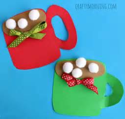 pom pom cocoa mug craft for crafty morning