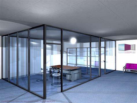 cloison de bureau acoustique types de configuration en vue 3d espace cloisons alu ile