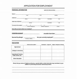 15 employment application templates free sample With free job application template