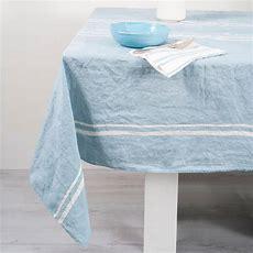 Handcrafted Italian Linen Tablecloth  Linea Blue Allora