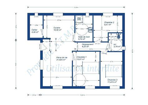 plan de maison 2 chambres plan maison 2 chambres plan maison plain pied 2 chambres