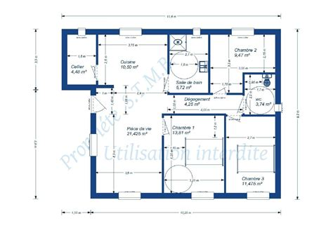 Plan Maison 2 Chambres - charmant plan maison 2 chambres ravizh com