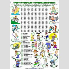 Sports Vocabulary Wordsearch Puzzle Worksheet