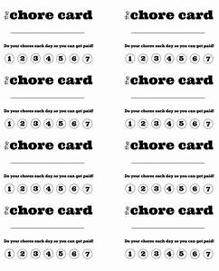 6 best images of printable chore punch cards free printable chore punch card template free for Printable punch card