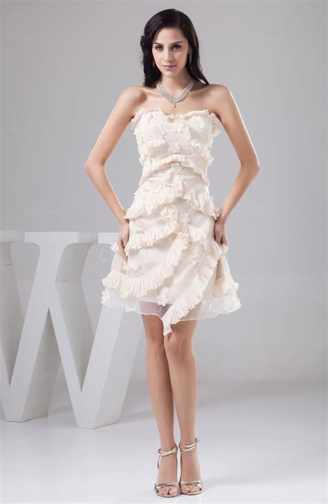 cream unique homecoming dress short affordable petite semi