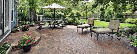 Paving Ideas For Backyards by Brick Patio Ideas And Styles Trusted Home Contractors