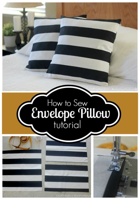 envelope pillow cover craftaholics anonymous 174 how to sew envelope pillow cover