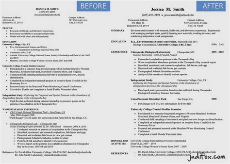 Before And After Resume by Judi Fox S Before After Resume Remodel