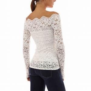 Fashion Womens Long Sleeve Shirt Casual Lace Blouse Loose ...