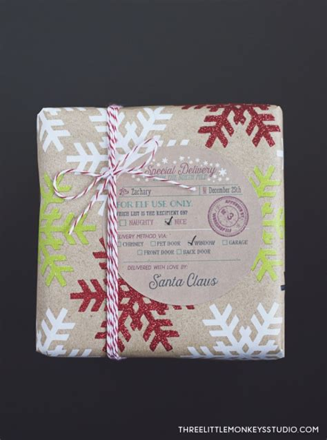 santas special delivery gift label tags worldlabel blog