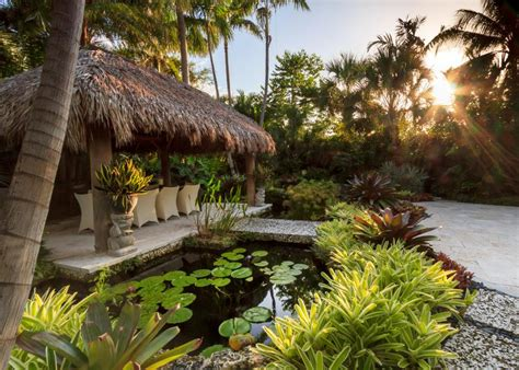 Water Garden With Tiki Hut, Koi Pond And Bridge Hgtv