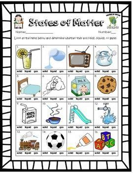identifying states of gas matter worksheet free solid liquid gas phases of matter worksheet