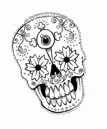 Coloring Pages Halloween Skull Dead Colouring Activities