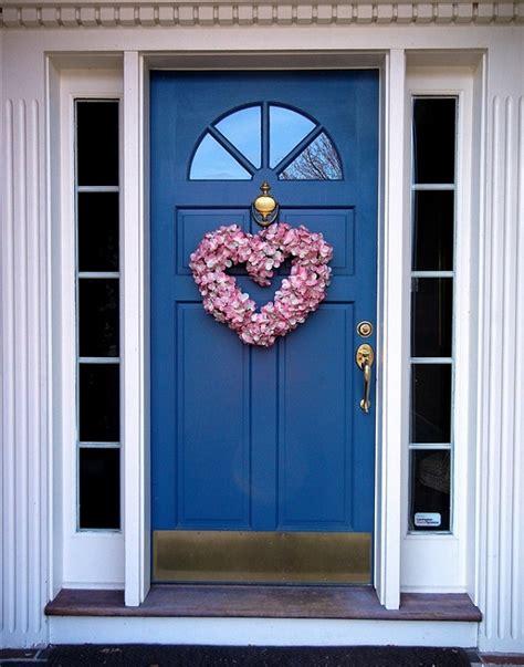 heart shaped wreath  front door home garden