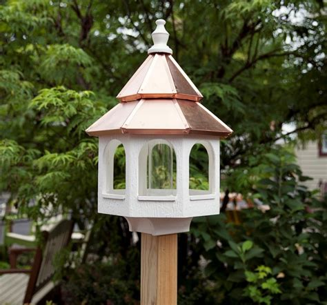 large bird feeders large bird feeder with copper roof carriage house