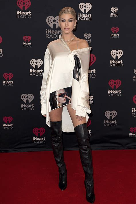Hailey Baldwin attends iHeartRadio Jingle Ball - Leather ...