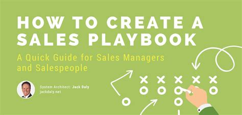steps  creating  sales playbook  jack daly