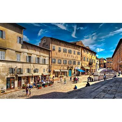 The Piazza Rinascimento in Urbino Italy3 exp HDR and