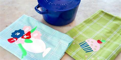 decorative tea towels  vinyl semigloss